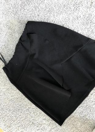 Юбка черная с вставками