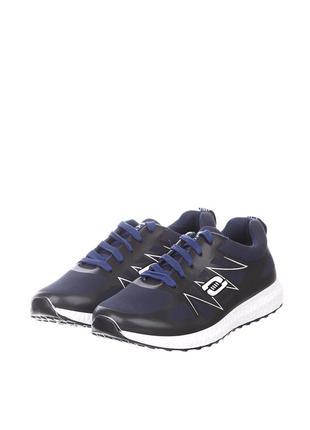 Темно-синие кроссовки dual с аппликацией