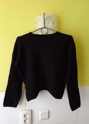 Шерстяной фактурный свитер cos