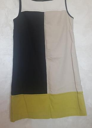 Платье сарафан лен  а-силуэта
