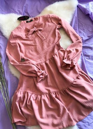 Шикарное лёгкое нарядное нежное платье с воланами