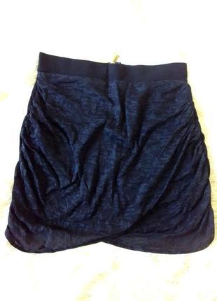 Мини юбка облегающая с молнией сзади topshop