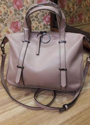 Красивая женская кожаная сумочка,  сумка из натуральной кожи.
