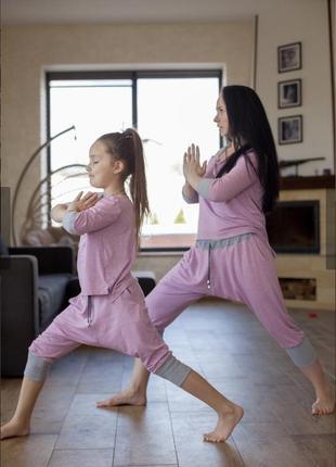 🔥цена до 3 июня🔥 комплект пижамок «мама&дочка»💞