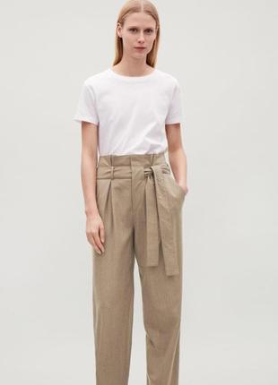 Оригінальні брюки cos в скаді 96% шерсті