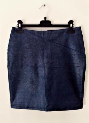 Джинсовая юбка cтрейч с глиттером topshop