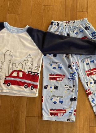 Пижама флифовая с машинками