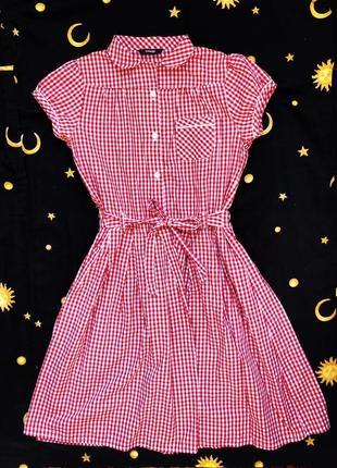 Винтажное платье в клеточку лолита