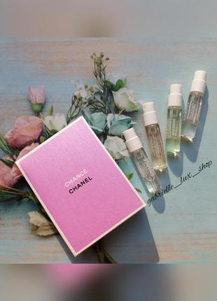 Набор ароматов chanel chance ,vive,fraiche,tendre