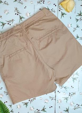 🎁1+1=3 модные короткие шорты чинос хлопок h&m темный беж, размер 42 - 442 фото