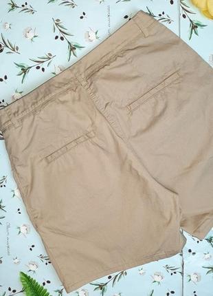 🎁1+1=3 модные короткие шорты чинос хлопок h&m темный беж, размер 42 - 446 фото