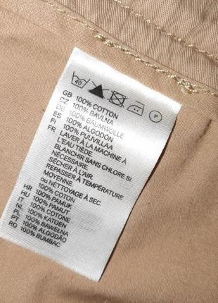 🎁1+1=3 модные короткие шорты чинос хлопок h&m темный беж, размер 42 - 448 фото