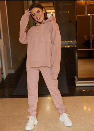 Новый розовый пудровый спортивный костюм