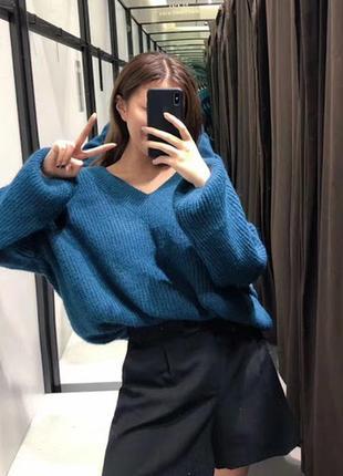 Новый свитер с v-образным вырезом zara