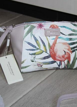 """Красивая сумочка """"фламинго"""" от david jones. распродажа"""