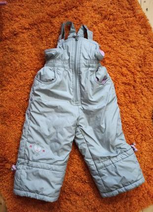 Зимний полукомбинезон для девочки donilo (80  см)