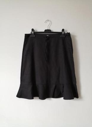 Льняная юбка с воланом h&m