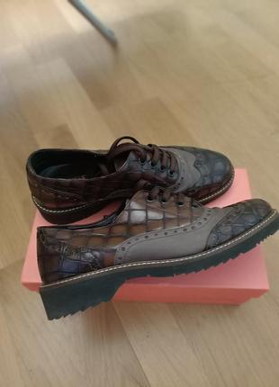 Итальянские туфли оксфорды