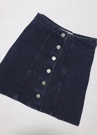 Джинсовая юбка на пуговицах denim