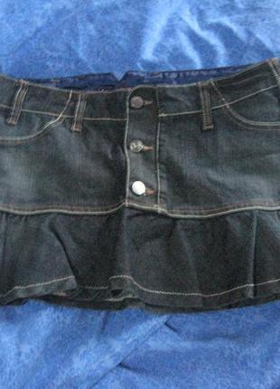 Очень классная джинсовая юбочка stradivarius размер 38