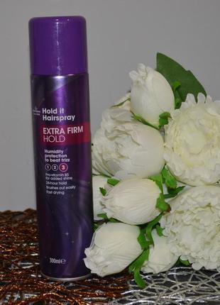 Фирменный лак для волос morrisons extra firm hold hairspray 300ml