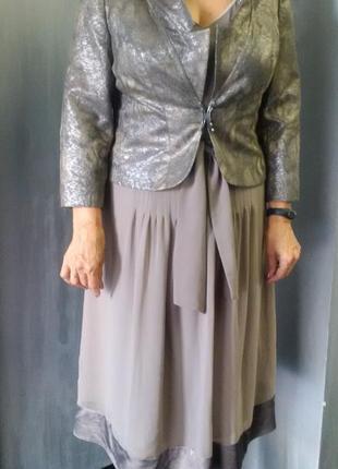 Роскошный костюм (платье + жакет)