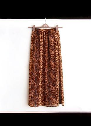 Макси юбка bik bok в леопардовый принт