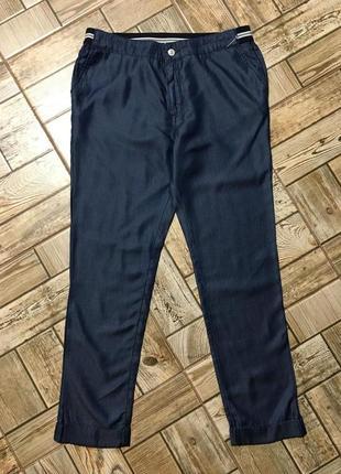 Лёгкие джинсовые штаны,брюки с манжетом,100%lyocell