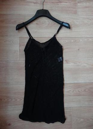 Черная сетка- пеньюар , сексуальное белье
