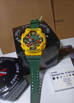 Часы casio g-shock ga-110gw с коробкой и инструкцией