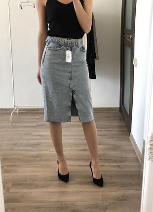 Джинсовая юбка размер 32\34berska
