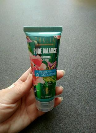 Нормализующий крем для рук thalia pure balance