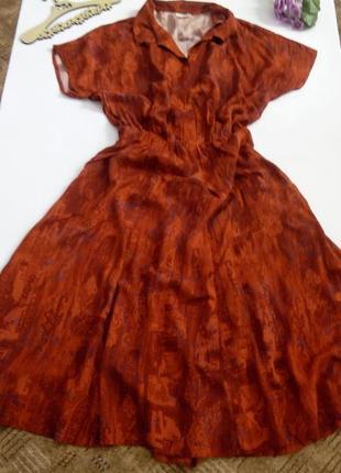 Платье миди 50 размер крутое винтажное нарядное вечернее весеннее красное