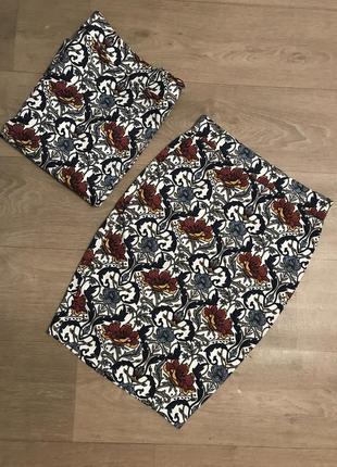 Замечательная юбка миди карандаш с узором amisu