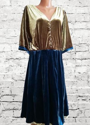 Эксклюзивное нарядное бархатное платье zara zara