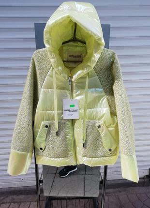 Комбинированная куртка размер 46