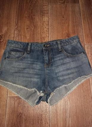 Шорты джинсовые короткие