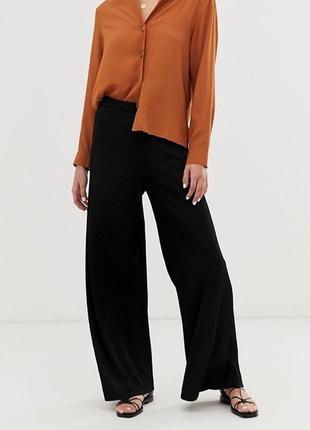 Качественные итальянские брюки штаны свободного кроя черные