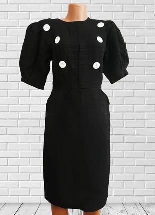 Черное платье с декором италия