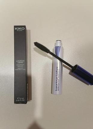 Тушь для ресниц kiko milano luxurious lashes waterproof mascara, оригинал, италия
