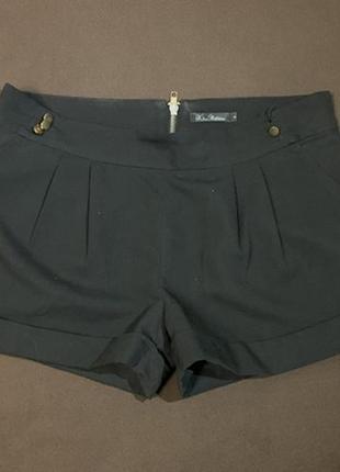 Короткие чёрные шорты
