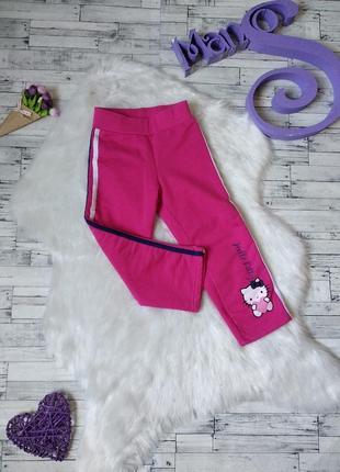 Штаны теплые hello kitty на девочку розовые