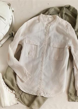 Рубашка из льна лен льон h&m