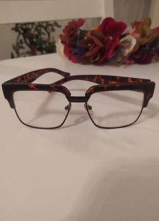 Имиджевые очки zara оригинал оправа леопард1 фото