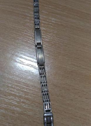 Серебряный старинный браслет для часов