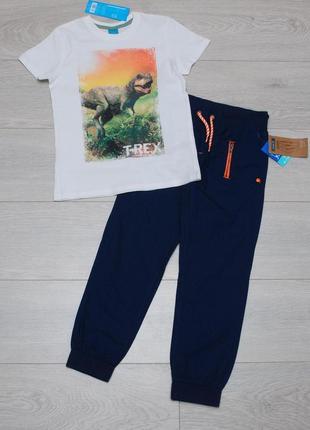 Костюм летний слаксы джоггеры и футболка  kiki&koko 122