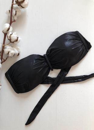 Чёрный лиф бандо от купальника