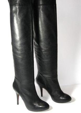 #распродажа#сапоги черные кожа#ботфорты кожа#сапоги на каблуке#высокие сапоги#3