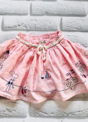 I love next стильная юбка на девочку 1,5-2 года