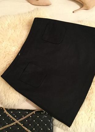 Крутая и стильная котоновая юбка стрейч с карманчиками от h&m на р. м/л ... 👠🌹❤️